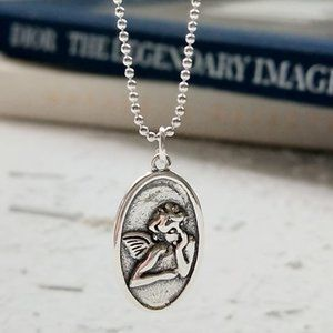 Sterling Silver Guardian angel  necklace